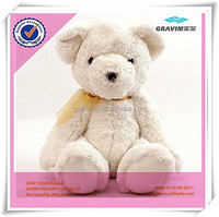 Safe super soft plush stuffed cute polar bear toy for baby game and sleeping toy