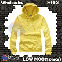 Wholesales Low MOQ HS001 360G Yellow Terry Sweater Hoodies