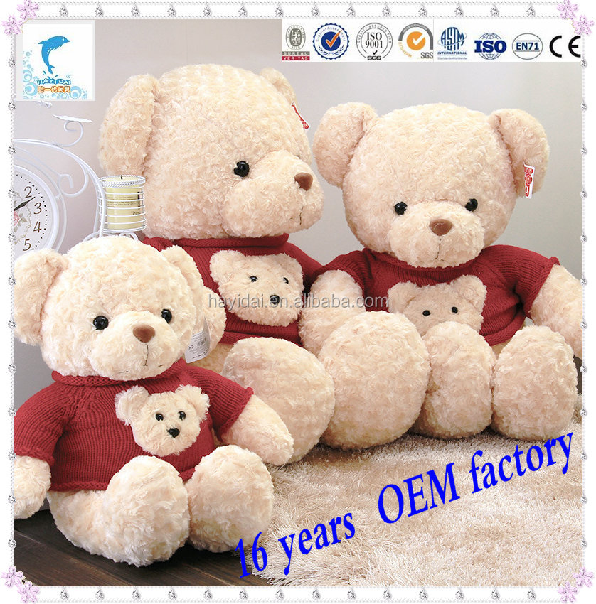 60CM teddy bear with red clothes plush toys