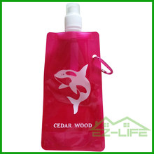 Cheap custom personalized foldable plastic water bottles with logo