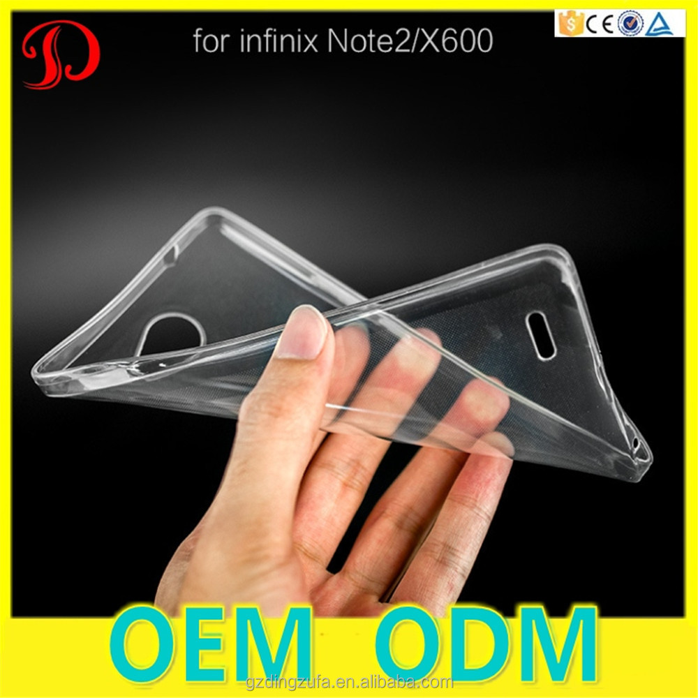 Free Sample Colorful Transparent TPU Gel Soft Back Cover Mobile Phone Case For Infinix Note <strong>2</strong> X600