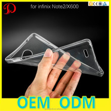 Free Sample Colorful Transparent TPU Gel Soft Back Cover Mobile Phone Case For Infinix Note 2 X600