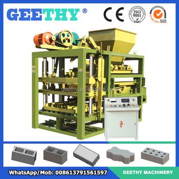 brick making machine price list