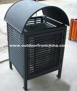 Big Metal outdoor dustbin