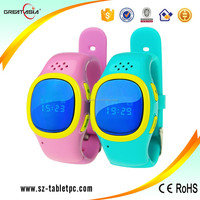 Kids waterproof cell phone watch with gps tracker wrist watch