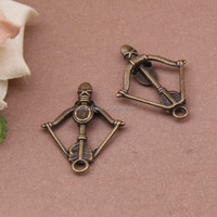 DIY accessories antique bronze Bow and arrow charm pendant for bracelet 34*25mm