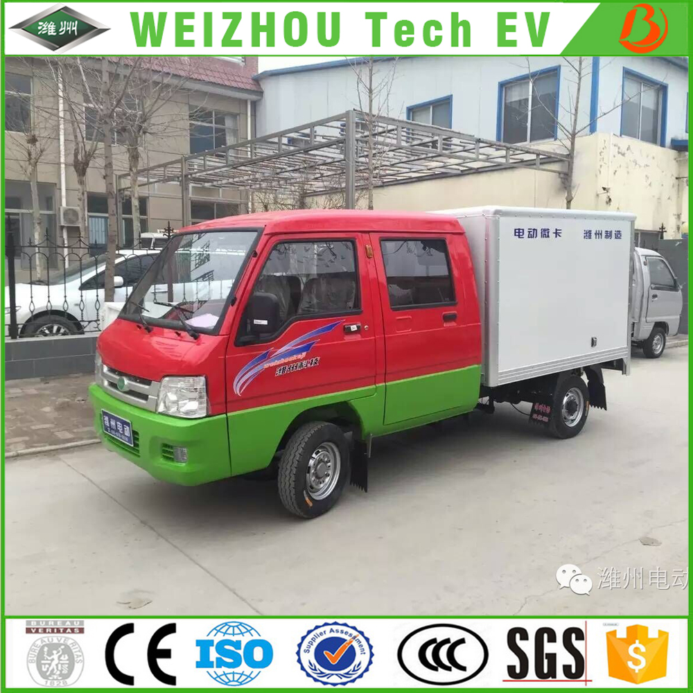 Customized EEC electric cargo van with 5 seats