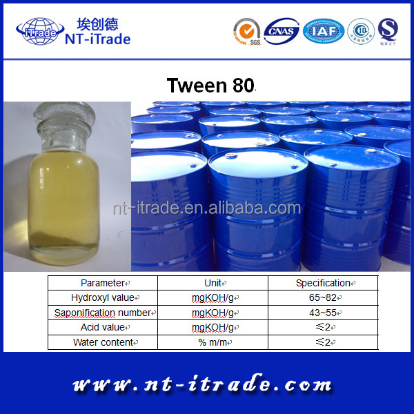Free sample--Oilfield Emulsifier Tween 80 from Factory Directly