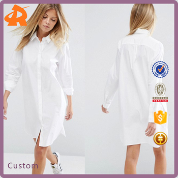 custom high quality wholesale white dress shirt,china factory t shirt dress