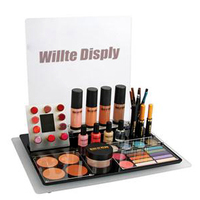 Countertop Shiny Black Acrylic Lipstick Display Organizer