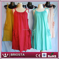 New Arrival Linen Colorful Maternity Dress For Pregnant Women Summer Wearing