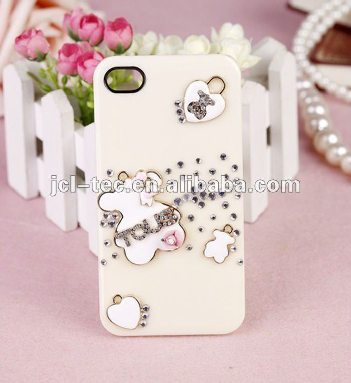 luxury Rilakkuma cover shell diamonds case for iphone 4s