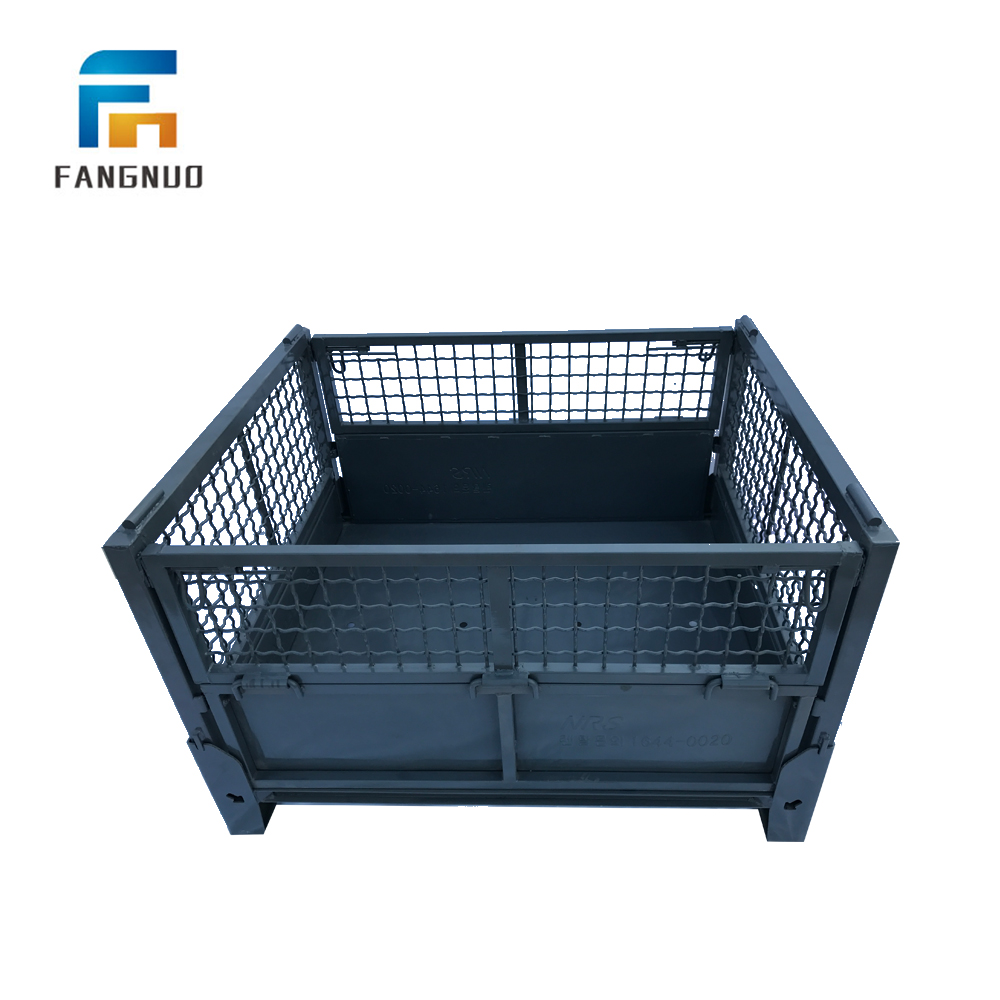 Metal Bin Storage Container Wire Mesh Fence Box /Cages Pallet