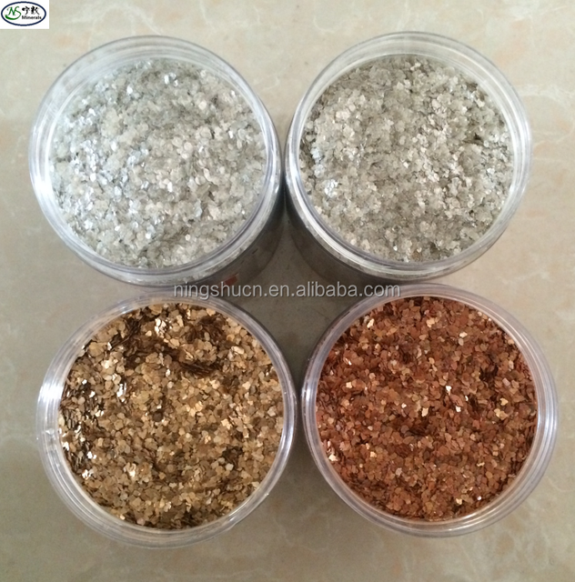 Decorative Interior Wall Coating Natural Color Mica Flakes for Insulation & Board