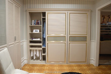 2015 bedroom wooden wardrobe door designs