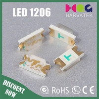 China factory top view 3.2*1.5*1.1mm high bright yellow surface mounted diode 1206 package smd led