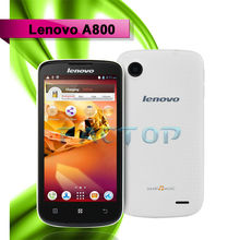 "Lenovo A800 3G Dual-Core Smartphone 4.5"" Capacitive Screen GPS Wi-Fi and Dual-SIM White"