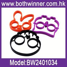 Eggs shaped silicone mould h0tMb owl shaped egg ring for sale