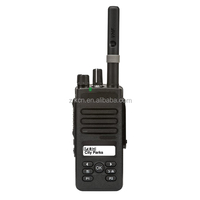 Keyboard for menu navigation walkie talkie radio to wireless commnication