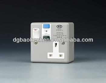 0130SMG RCD 13A metal switch
