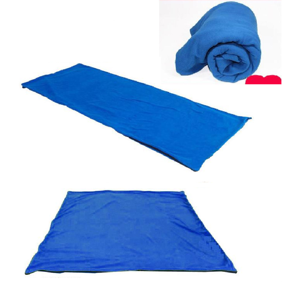 Superfine fleece sleeping bags camping accessories summer envelope sleeping bag light weight 0.6KG