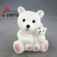 YINUO LED toys 5.5*5*7.3cm cute bear Eco-friendly PVC toy plastic vinly cartoon toy