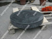 beach umbrella screw base with natural stone