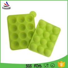 best design silicone popsicle mould fda certification ice cream pop mold food grade round shape silicone ice cube tray
