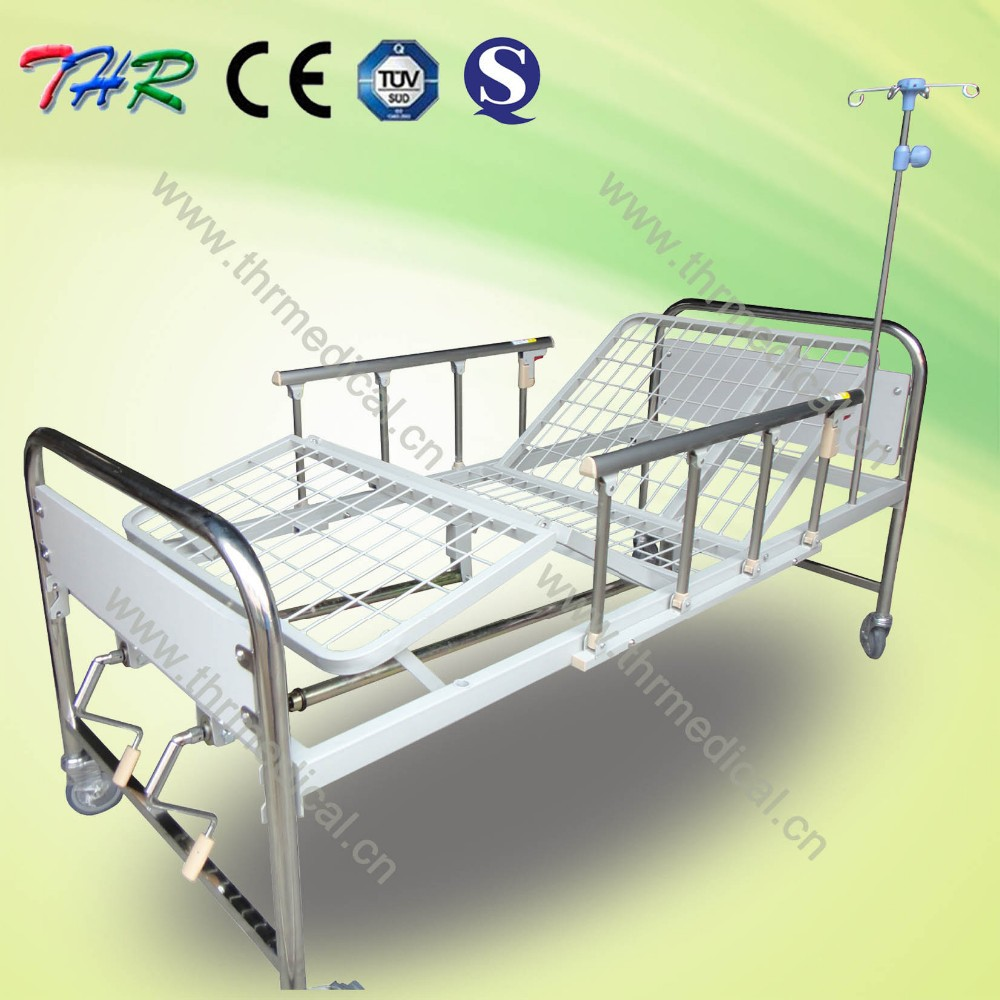 THR-MB242 Hospital 2 cranks Stainless steel patient bed