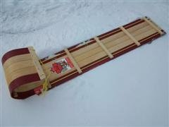 Wood toboggan 5 foot Red