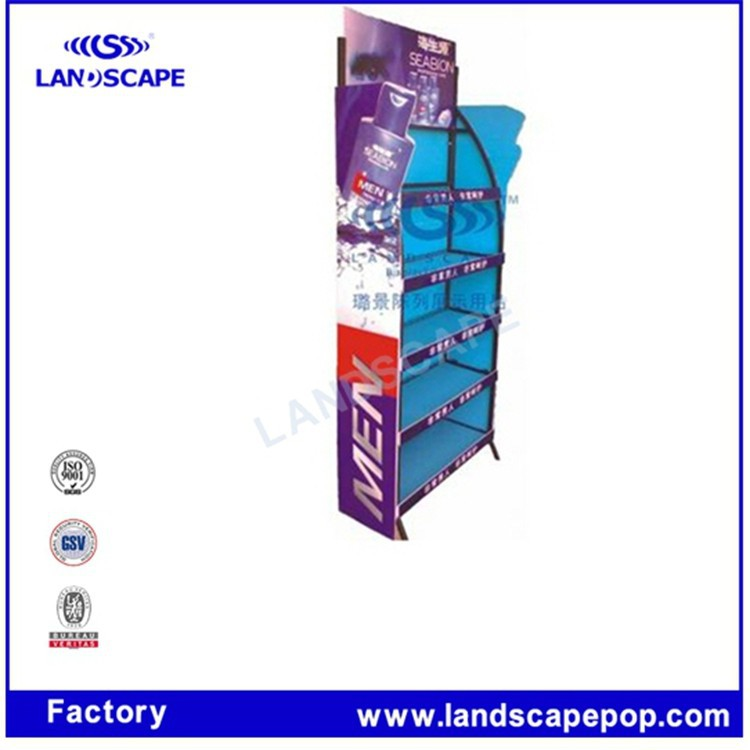 customised metal trade show display/metal shelving bottle rack /metal floor display