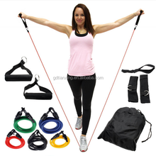 Exercise Resistance Stretch Latex Elastic Bands Set 11PCS with Ankle Straps for sports equipment