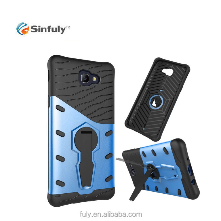 Hybrid combo case with 360 rotating kick stand back cover for Samsung on5 J5 Prime