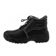 Cow leather steel toe safety boots, security boots
