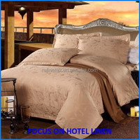 Hotel bedding set 100% cotton silk jacquard hotel bed linen set king size 3d embroidery bed cover set