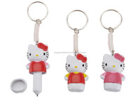 Cute hello kitty promotional stretch ball pen with key-chain