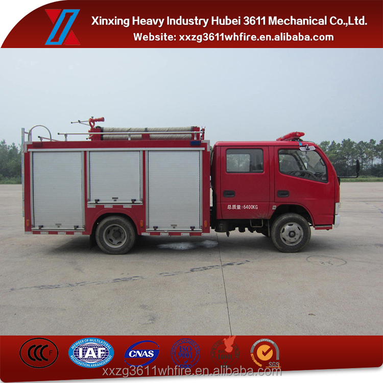 Top Selling Product New Diesel Emergency Rescue 2t Light Mini Water Tank Truck For Fire Fighting