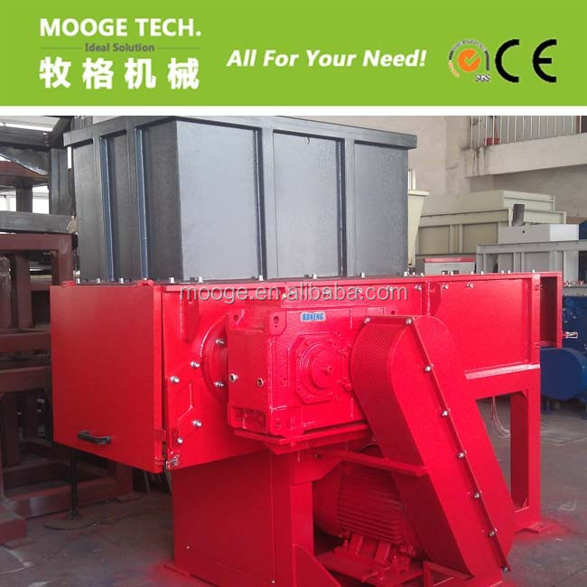 Single shaft shredder/shredding machine for waste plastic