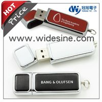 Leather usb flash drive for corporate gift