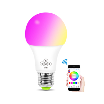 Google Alexa controlled LED smart wifi light switch bulb Group WiFi LED Bulb  E27 multi color