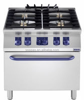 4 Burners Gas Stove and Oven