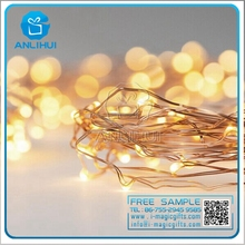 100-240 V input coiling packing warm white remote control copper wire fairy light christmas village led lights