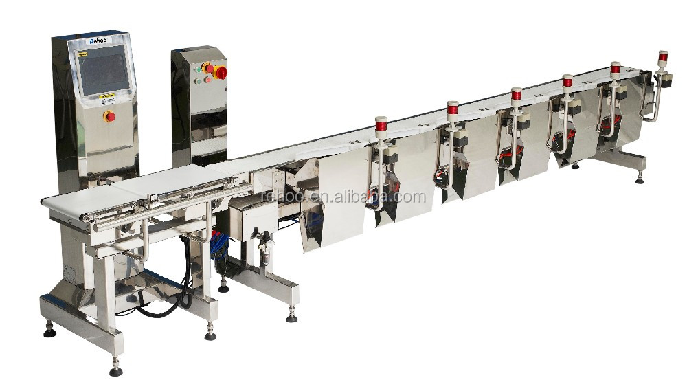 Poultry weight sorting machine