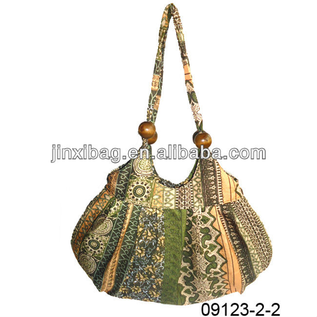 Retro flower designer handbag for women