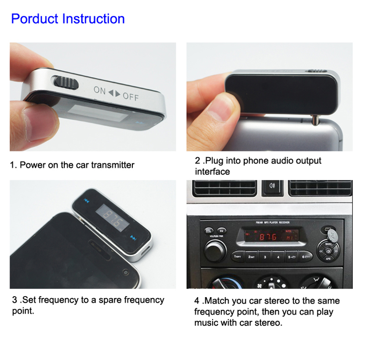 GXYKIT wireless car kit handsfree F1 fm car transmitter with high quality