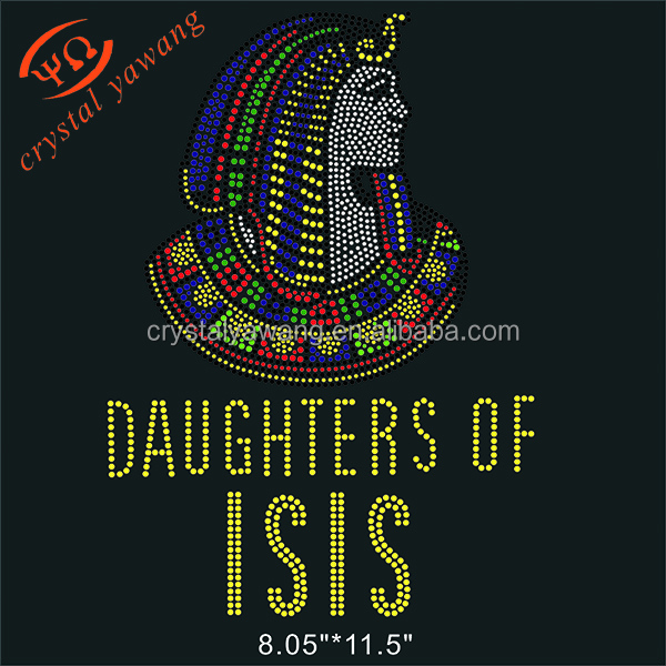 Iron On strass Daughter Of ISIS Rhinestone Transfers applique Wholesale