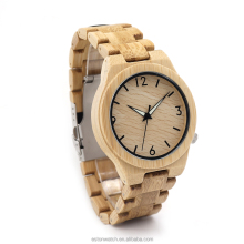 New Arrival 2018 ! Handcrefted Bamboo Wood Watch Japan 2035 Movement