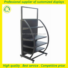 high quality store free standing black metal home appliance display rack