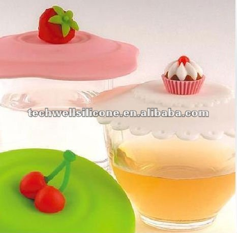 fancy silicone cup cover