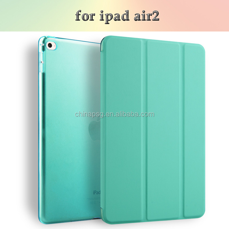 Portable Leather Case for iPad Air 2 with Multi-Angle Holder